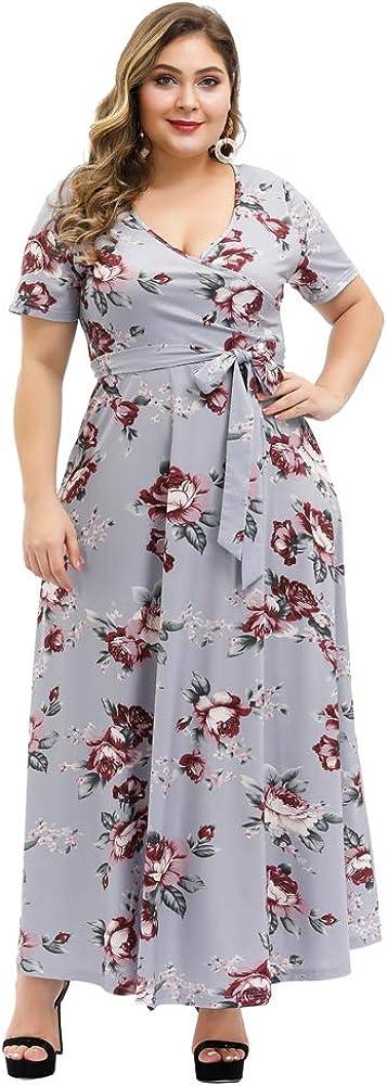 Love is Lovely Women's Plus Size Bargain Austin Mall Sleeves Wrap Flora V-Neck Short