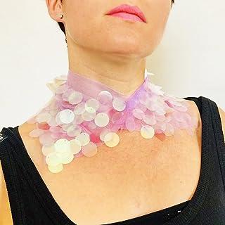 Icon Superstar cuello lentejuelas - Collar Coachella - Collar boho lentejuelas - Collar mujer glitter - Festival ropa Boho...