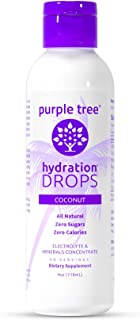 Electrolyte Liquid Drops for Water | Trace Minerals Hydration (Coconut Flavor) | NO Sugar NO Calories | Keto, Sports, Cram...