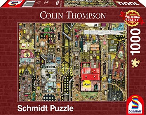 Schmidt- Puzzle Paesaggio Urbano Fantastico Colin Thompson 1000 Pezzi, 59355