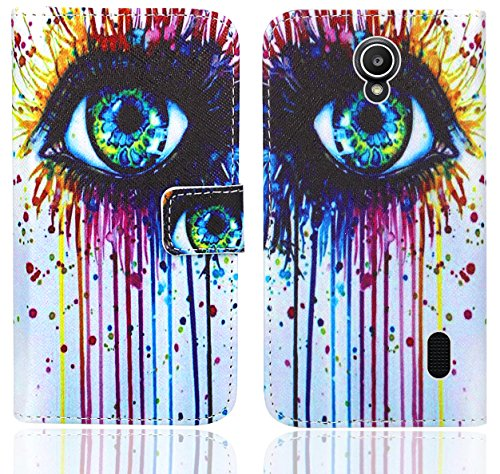 Huawei Y635 Handy Tasche, FoneExpert® Wallet Hülle Flip Cover Hüllen Etui Ledertasche Lederhülle Premium Schutzhülle für Huawei Y635 (Pattern 10)