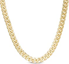 10K Yellow Gold Miami Cuban Link Chain Necklace/Bracelet with Box Lock Clasp 6.5MM Wide- 8
