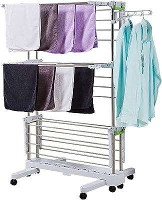 衣類用屋内屋外ポータブル乾燥機 ステンレス鋼服Airer多層三次元乾燥室内多機能大容量タオルラック屋外取り外し可能な乾燥ラック148センチメートルラック 物干しラック