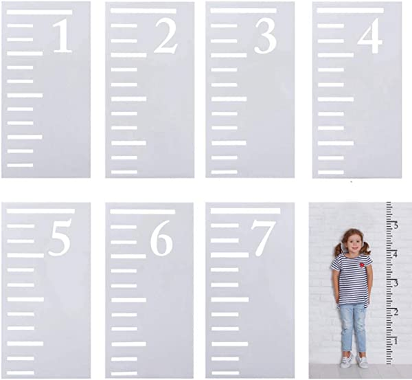 Artilife 7 Feet Growth Chart Stencil Large Kids Wall Height Measuring Ruler Growth Chart Templates Painting On Wood Wall Decals Home Decor