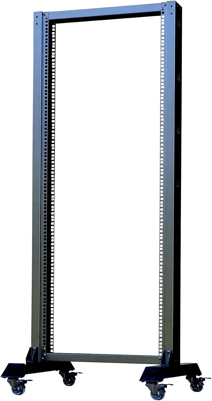 42U Open Frame 2 Post Server IT Network Data Rack HQ Relay on Casters Sysracks