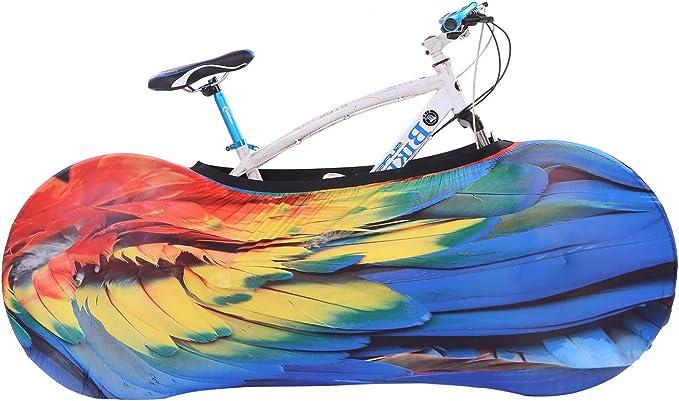 Dustproof Indoor Bicycle Storage Bag Bike Wheel Cover Washable Elastic O4L9