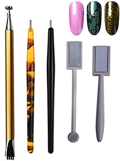 Mwoot Set de 5 Palos Imán Magnético Stick de Alta Calidad Perfectas Efecto de Ojo de Gato DIY Nail Art Herramientas para ...