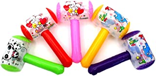 Dzrige Inflatable Cartoon Hammer with Sound Bell Handle Hammer Funny Toys for Kids (Random Color)