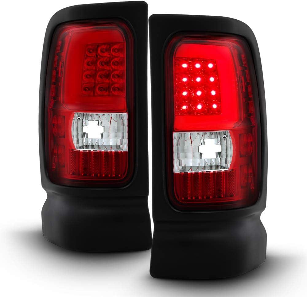 特売 新作 大人気 ACANII - For 1994-2001 Dodge Ram Clear 94-02 1500 3500 Red 2500