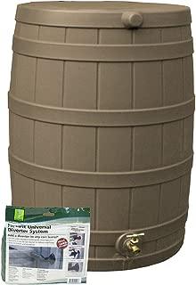 Good Ideas RW50-Div-Kha Rain Wizard Rain Barrel 50 Gallon Diverter Kit, Khaki