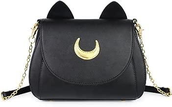 Moon Luna Cat Purses Pu Leather Gothic Purse Cosplay Moon Sailor Bag Handbags Shoulder Bags for Women