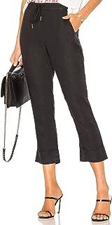 Women's Woven Linen Cuffed Trouser