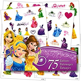 Disney Princess Tattoos - 75 Assorted Temporary Tattoos