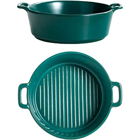 et autres recettes de terrine en gres Lot ramequin four rectangulaire en c/éramique lasagne bleu-vert Petit plat four x 4 | Id/éal pour cuisiner gratin en bleu rouge et orange x 4
