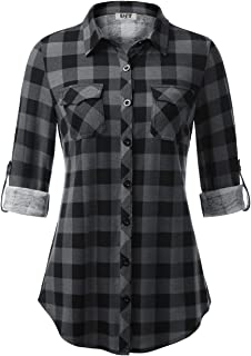 Best womens brown button down shirt Reviews