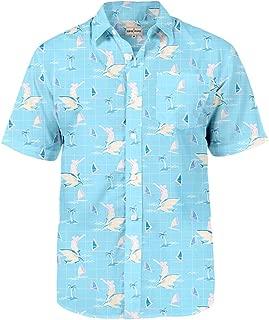 Men's Tropical Aloha Hawaiian Shirts - Summer Light Weight Button Down Shirts