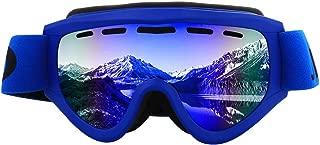 Sunglasses Fashion Accessories Antifogging Outdoor Ski Goggles Double Anti-Snow Climbing Goggles Kid (Color : Blue)