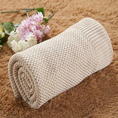 Zhangl Textile de Maison Couverture de bébé nouveau-né en coton pour enfant Linge de lit nouveau-né Swaddle Wrap Textile de maison beige