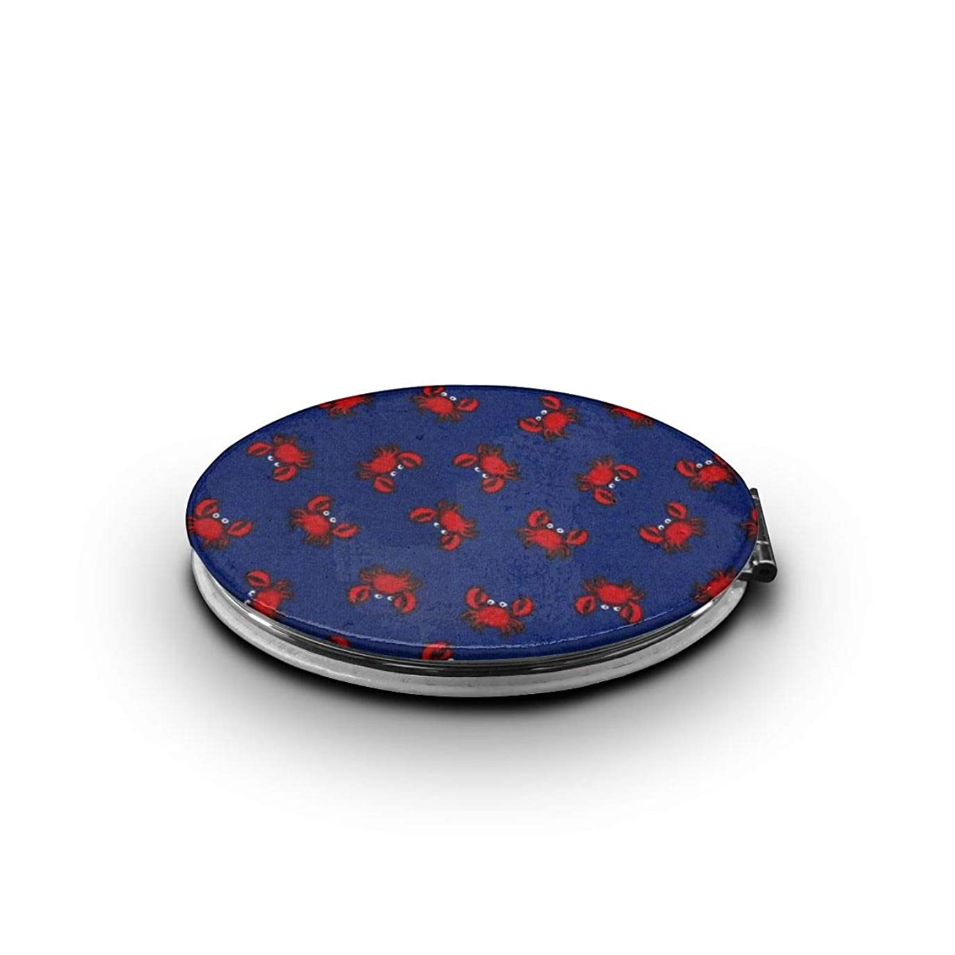 クランプ無しインスタンス化粧鏡 赤いカニ 折りたたみ 自由 角度調整 180° 回転 女優ミラー 携帯用ミラー コンパクトコンパクト ミラー