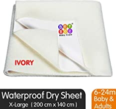 BeyBee Water Resistant Bed Protector Baby Dry Sheet with Ultra absorbance -X-Large(200 cm X 140 cm), Ivory