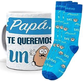 mundohuevo, Trio de calcetines mas taza o cojin, originales y personalizados, ideal para regalo. 1 calcetin gratis por el que se te pierde