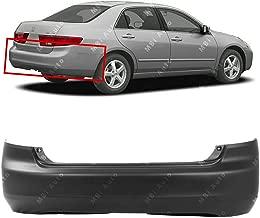 MBI AUTO - Primered, Rear Bumper Cover for 2003 2004 2005 Honda Accord Sedan 4-Door 03 04 05, HO1100208