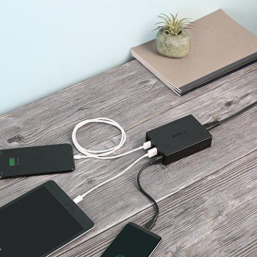 AUKEY Quick Charge 3.0 Multi-Port USB Ladegerät 6 Ports 60W USB Netzteil für Samsung Galaxy S8 / S8+ / Note 8, LG G5 / G6, Nexus 5X / 6P, HTC 10, iPhone XS/XS Max/XR, iPad Pro/Air, Moto G4 usw.