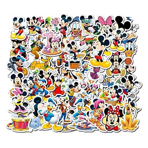 YZFCL Mickey Mouse Image Sticker Laptop Pencil Case Refrigerator TV Sticker Furniture Decorative Sticker 50pcs