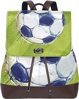 LUPINZ - Mochila de Piel para la Vuelta al Cole, diseño de Campo de fútbol