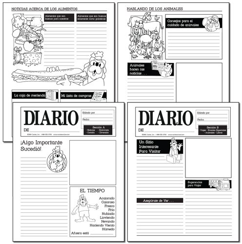 Make Your Own Spanish Newspaper (Pack of 15)