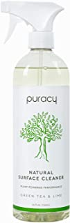 Puracy Natural All Purpose Cleaner, Streak-Free Household Multi-Surface Spray, Nontoxic, Green Tea & Lime, 25 Fl. Oz (Pack...