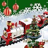 Zug Sets Weihnachten Elektrotriebwagen Zug Spielzeug Kinder Elektrische Pädagogisches Spielzeug Eisenbahn Zug Set Racing Straße Transport Gebäude Spielzeug Weihnachtszug Sets