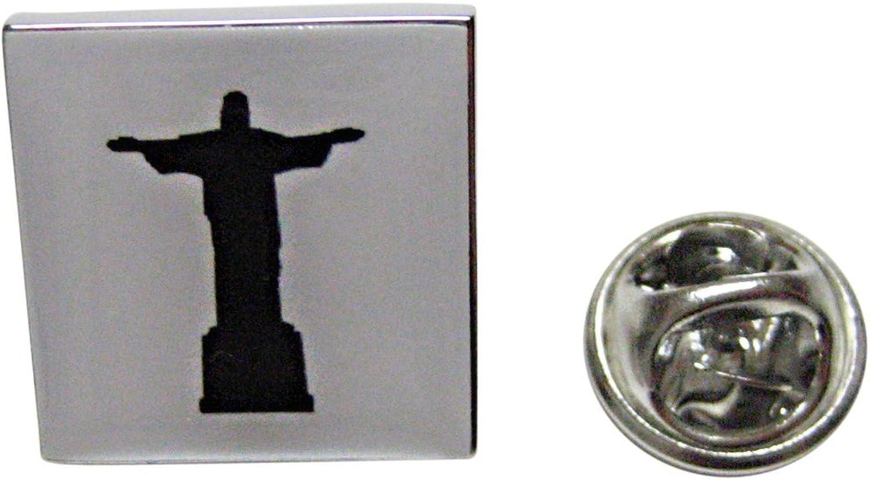 Square Christ The Redeemer Rio Statue Lapel Pin