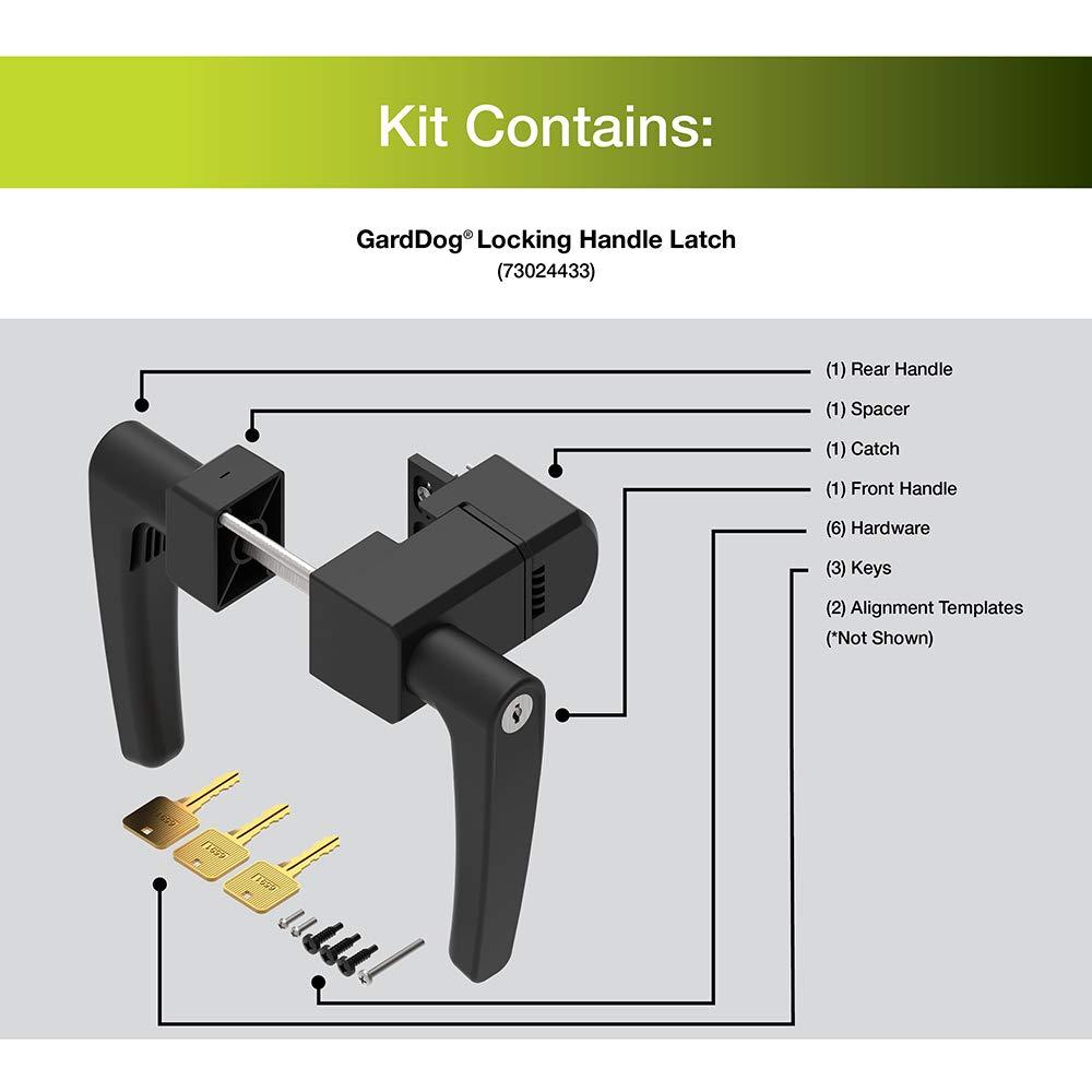Boerboel 73024433 Garddog Locking Latch with Handle