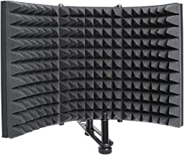 Studio Microphone Isolation Shield Foldable High Density Absorbing Foam Front And Vented Metal Back Plate for Panel Sound Absorbing Vocal Recording