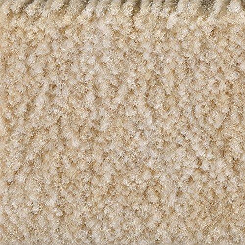 Teppichboden Auslegware Meterware Velour meliert beige gelb 400 cm und 500 cm breit, verschiedene Längen