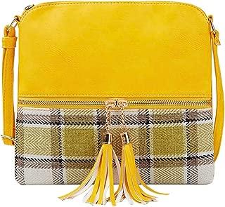 SUGEER Women's Bag Lightweight Dome Messenger Bag with Tassel Shoulder Bag Wild Small Square Package Shoulder Bags