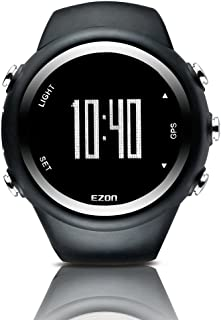 GPS Smart Watch Sports Outdoor Digital Watches with Distance Pace for Men and Women T031B01 Black