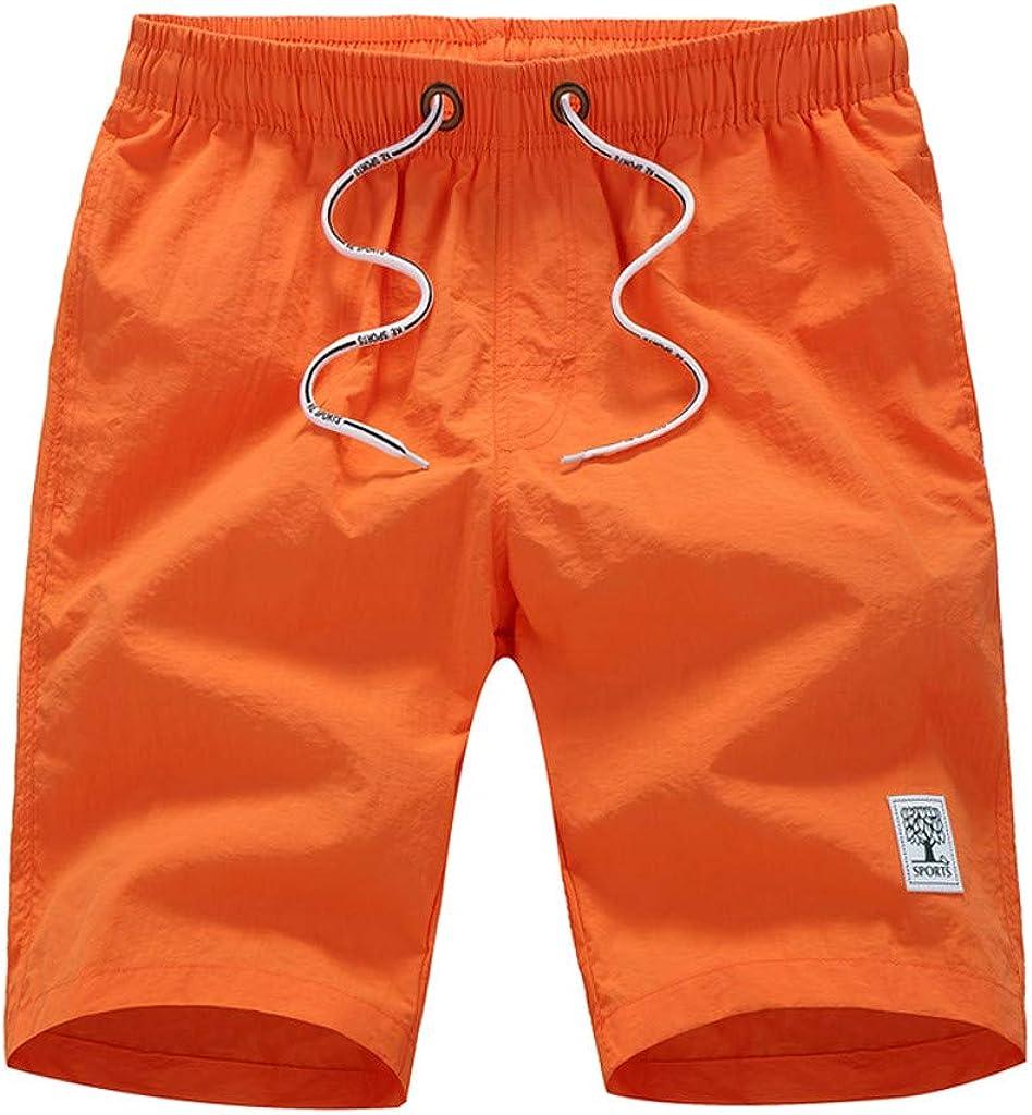 MODOQO Men's Swim Trunks, Plus Size Summer Quick Dry Loose Fit Shorts Pants with Pocket