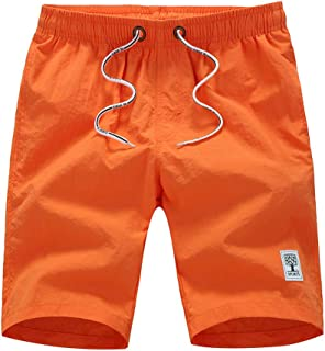 ccc0c2a7a7 Suma-ma Men's Casual Solid Quick Dry Beach Pants Surfing Swimming Loose  Shorts With Pocket