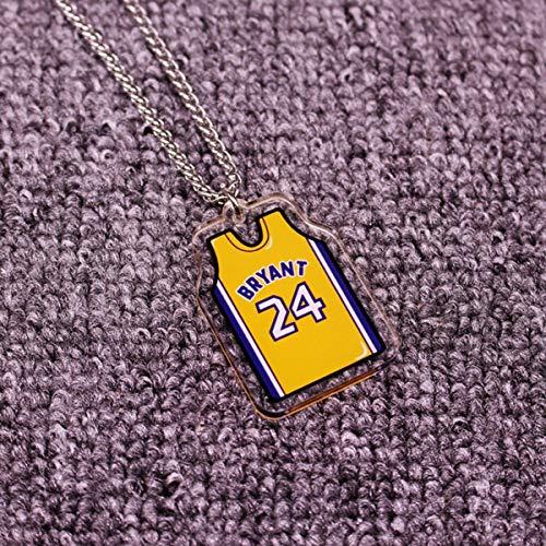 ANLW NBA All-Star Kobe Collar/Jordan // Antetokounmpo Colgante de acrílico sólido Cabeza Colgante de Hip Hop, Aficionados de la NBA de Baloncesto,Kobe