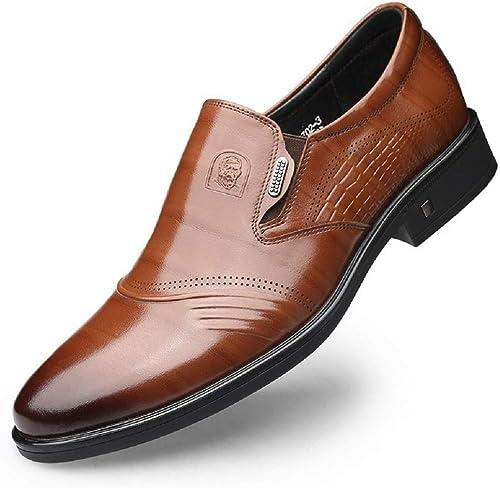 Hommes Chaussures de Ville à Enfiler de Travail Bout Pointu