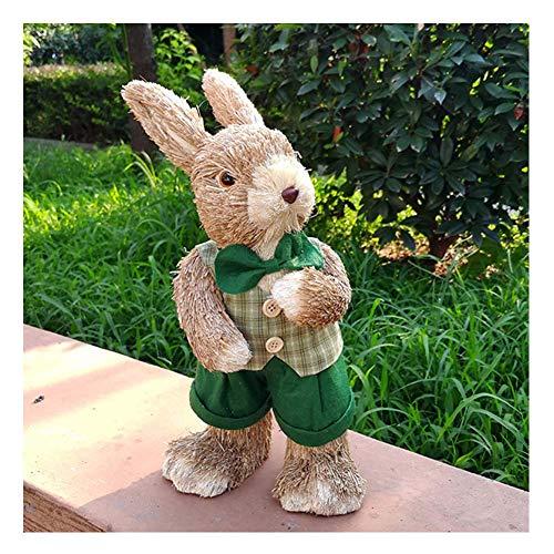 erddcbb Decoracin de Conejito de Pascua, Familia de Conejos de Tres estatuas, Manualidades para decoracin de Fiestas, Dormitorio, hogar, Escritorio, decoracin, Padre