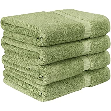Utopia Towels Premium Bath Towel Set (Pack of 4, 27 x 54) 100% Ring-Spun Cotton Towels for Hotel and Spa, Maximum Softness and Highly Absorbent (Sage Green)