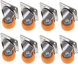 8 stuks industriële wielen van rubber, 25 mm, 13 kg.