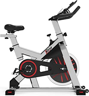 TRYA Indoor Exercise Bike Stationary, Belt Drive Cycling Bikes with Ipad Mount and LCD Monitor for Home Workout Bike Train...