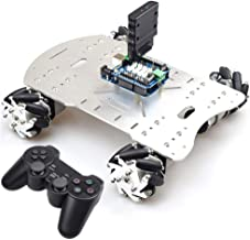 Smart Mecanum Wheel Car Chassis Omni Wheel RC Robot Kit with Wireless Controller for PS2+ UNO R3 Board+ 4 Chanel Motor Driver Board for Arduino Educational DIY STEM Project