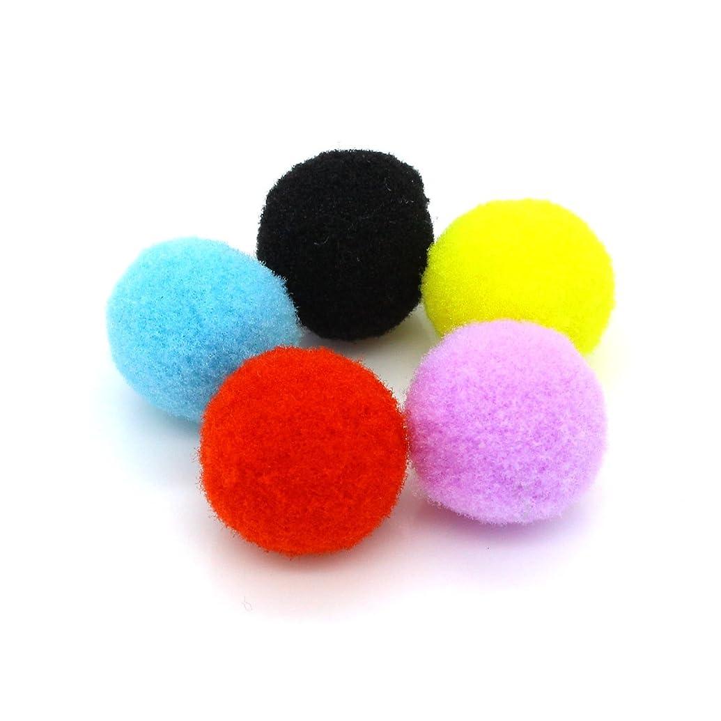熱意発明足50個MixカラーコットンボールAromatherapy Essential Oil Diffuserロケットペンダントネックレス15?mm 20?mm 25?mm