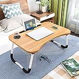 Vinsh Enterprise Foldable Laptop Table, Portable Laptop Bed Tray Table Folding Dormitory Table...