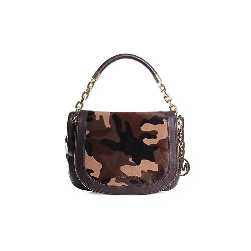 ea341f7a9f4d Michael Kors Stanthorpe Medium Convertible Camo Haircalf Shoulder Bag in  Duffle